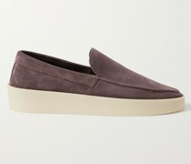 Reverse Suede Loafers