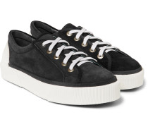 Rubber-trimmed Suede Sneakers