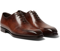 Alessandro Capri Leather Whole-cut Oxford Shoes