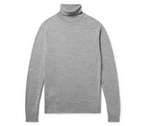Cherwell Slim-Fit Mélange Merino Wool Rollneck Sweater
