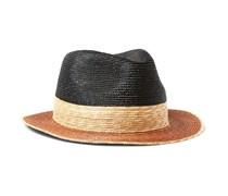 Colour-Block Straw Panama Hat