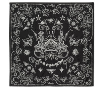 Tattoo-print Cotton And Silk-blend Scarf