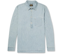 Ethan Half-placket Stretch-denim Shirt