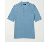 Tussah Silk-Mesh Polo Shirt