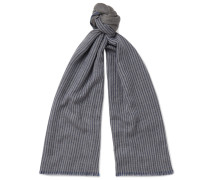 Fringed Striped Cashmere Scarf