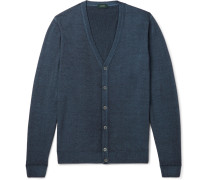 Garment-dyed Wool Cardigan