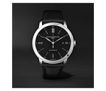 Classima Automatic 42mm Stainless Steel and Leather Watch, Ref. No. 10453