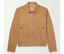 Organic Cotton-Blend Twill Blouson Jacket