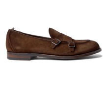 Ivy Suede Monk-Strap Shoes