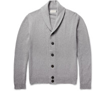Patterson Shawl-collar Merino Wool And Cashmere-blend Cardigan
