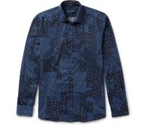 Slim-fit Paisley-print Washed-cotton Shirt