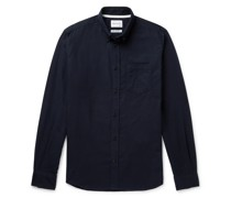 Anton Button-Down Collar Brushed Cotton-Flannel Shirt