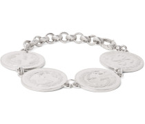 Rhodium-plated Coin Bracelet