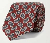 8cm Paisley-Print Silk Tie