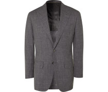 Unstructured Wool, Silk and Linen-Blend Suit Jacket