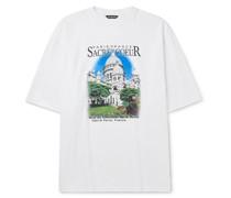 Oversized Printed Cotton-Jersey T-Shirt
