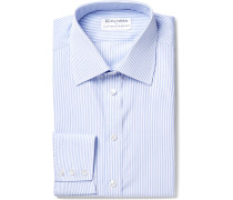 + Turnbull & Asser Blue Slim-fit Striped Cotton Shirt