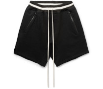 Loopback Cotton-jersey Drawstring Shorts