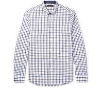 Chase Slim-fit Button-down Collar Checked Cotton Shirt