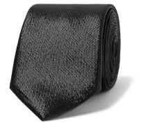 7cm Metallic Silk-blend Tie