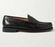 + Maharishi Weejuns Larson Debossed Leather Penny Loafers