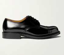 Heath Goodyear-Welted Cap-Toe Polished-Leather Derby Shoes