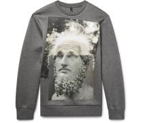 Printed Scuba-jersey Sweatshirt