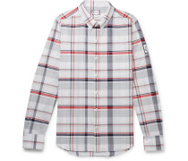 Slim-fit Button-down Collar Checked Cotton-poplin Shirt