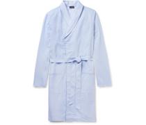 Ryan Contrast-tipped Cotton-jacquard Robe