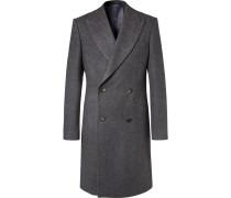 Herringbone Wool Double-breasted Coat