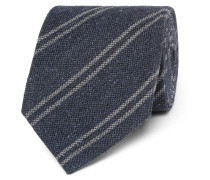 8cm Striped Silk And Wool-blend Tie