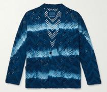 Indigo-Dyed Cotton-Mesh Jacket