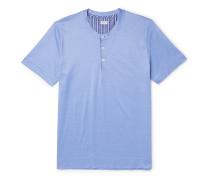 Cotton-Jersey Henley Pyjama T-Shirt