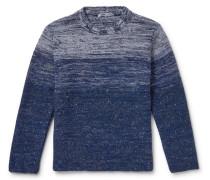 Dégradé Merino Wool and Cashmere-Blend Mock-Neck Sweater