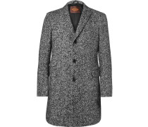 Slim-fit Herringbone Virgin Wool-blend Coat