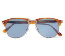 Aviator-style Acetate And Silver-tone Sunglasses