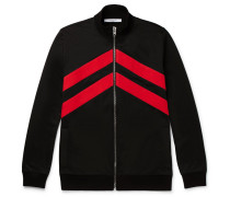 Slim-fit Striped Jersey Track Top