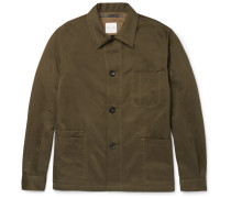 Cotton And Linen-blend Twill Jacket