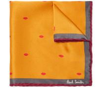 + Gufram Lip-print Silk Pocket Square