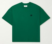 Oversized Logo-Embroidered Cotton-Jersey T-Shirt