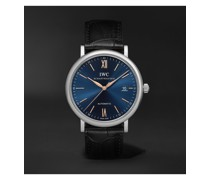 Portofino Automatic 40mm Stainless Steel and Alligator Watch, Ref. No. IW356523
