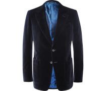 Blue Shelton Slim-fit Cotton-velvet Tuxedo Jacket