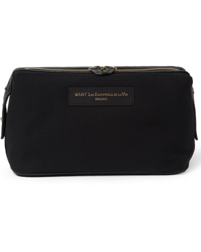 Kenyatta Organic Cotton-canvas Wash Bag - Black