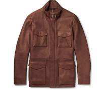 Traveller Cashmere-lined Nubuck Field Jacket