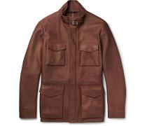 Traveller Cashmere-lined Nubuck Field Jacket