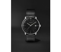 Max Bill Automatic 38mm Stainless Steel and Leather Watch, Ref. No. 027/4701.02