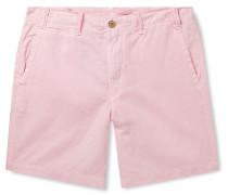 Maritime Slim-Fit Linen and Cotton-Blend Shorts