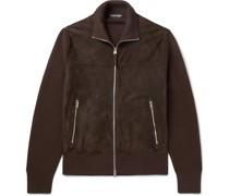 Wool-Lined Suede Jacket