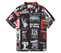 + Rage Against the Machine Camp-Collar Printed Woven Shirt