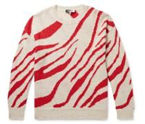Glenn Zebra-Intarsia Alpaca and Wool-Blend Sweater